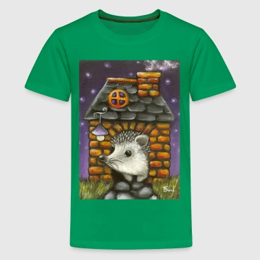 Hérisson hedgehog in his cosy little home - Kids' Premium T-Shirt