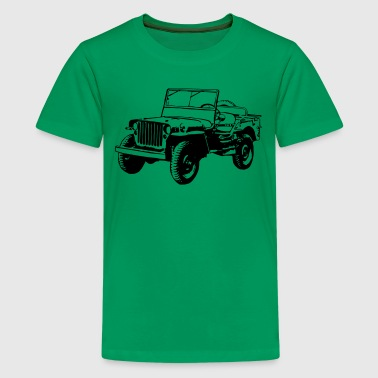 Willys Jeep (1 color) - Kids' Premium T-Shirt