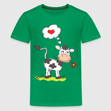 Love Cows Cow in Love - Kids' Premium T-Shirt