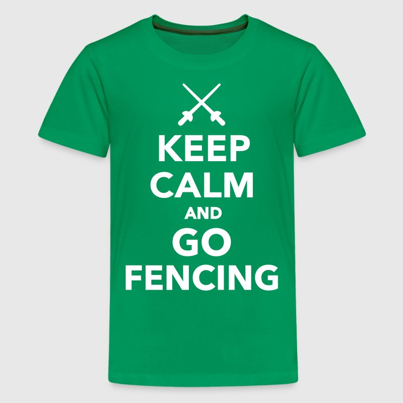Keep calm and go Fencing - Kids' Premium T-Shirt