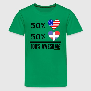 Half American Half Dominican 100% Awesome - Kids' Premium T-Shirt