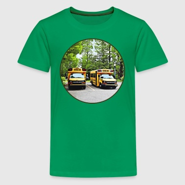 Two School Buses - Kids' Premium T-Shirt