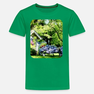 Car Scene Wisteria on Lawn - Kids' Premium T-Shirt