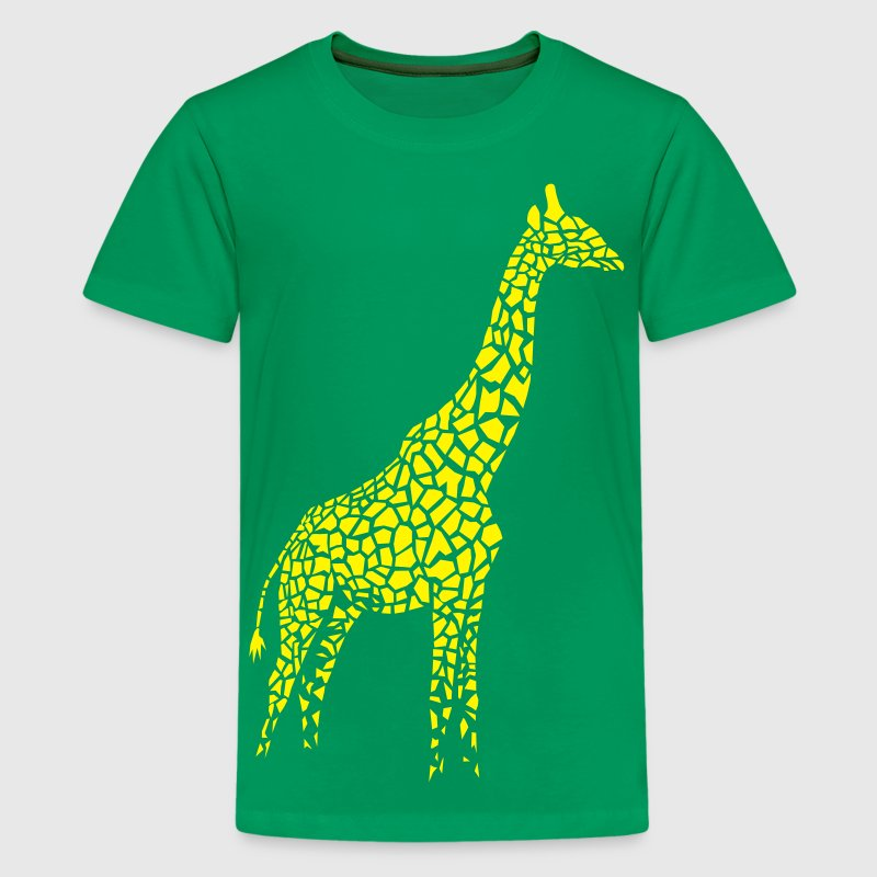 giraffe afrika serengeti camelopard safari zoo animal wildlife desert - Kids' Premium T-Shirt