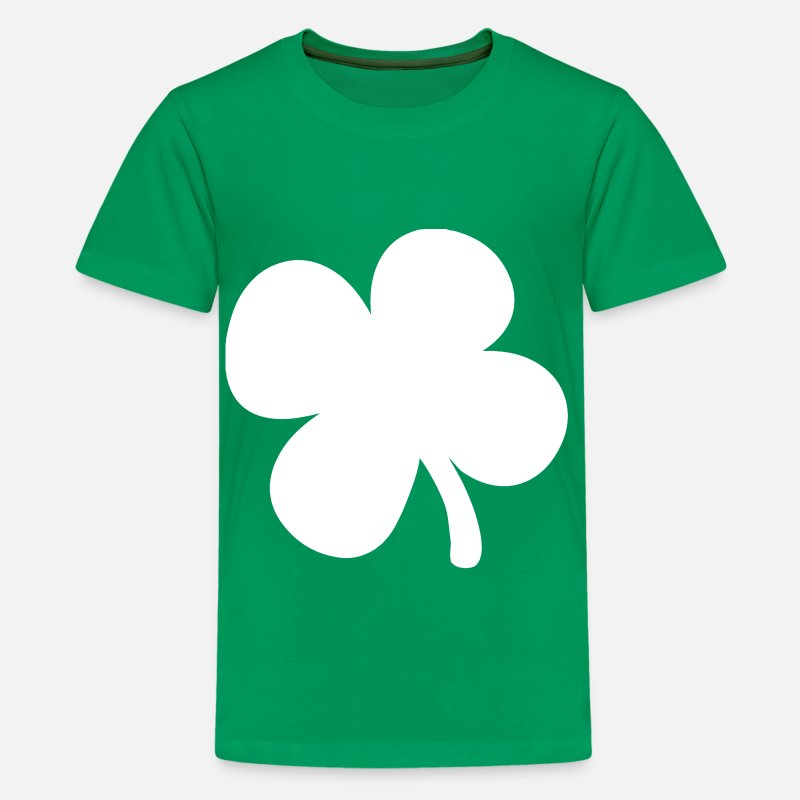 Clover T-Shirts - Shamrock 4-Leaf Clover - Kids' Premium T-Shirt kelly green