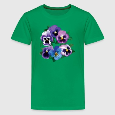 Pansy Circle of Purple Pansies - Kids' Premium T-Shirt