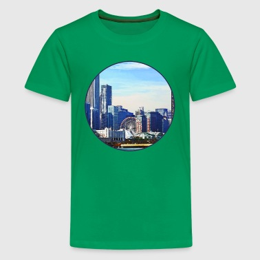 Chicago IL - Chicago Skyline and Navy Pier - Kids' Premium T-Shirt