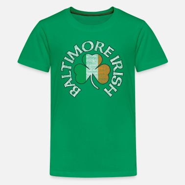 Baltimore Flag Baltimore Irish Shamrock Flag Apparel  - Kids' Premium T-Shirt