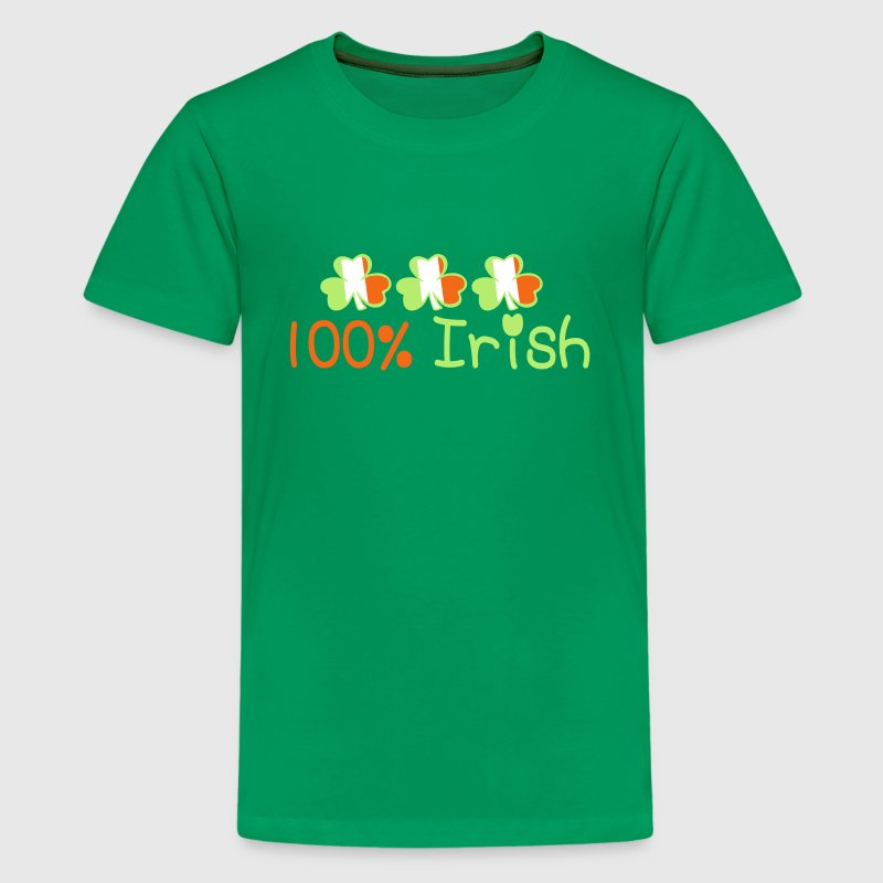 ♥ټ☘Kiss Me I'm 100% Irish-Irish Rule☘ټ♥ - Kids' Premium T-Shirt