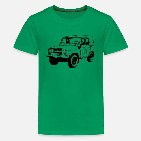 Offroad Vehicles T-Shirts - UAZ Jeep (1 color) - Kids' Premium T-Shirt kelly green