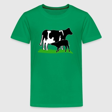 cow and calf black - Kids' Premium T-Shirt