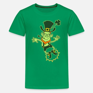 Kids Leprechaun Irish Leprechaun Clapping Feet - Kids' Premium T-Shirt