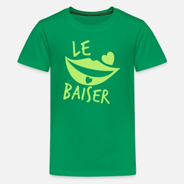 French Kiss le baiser FRENCH for the KISS! - Kids' Premium T-Shirt