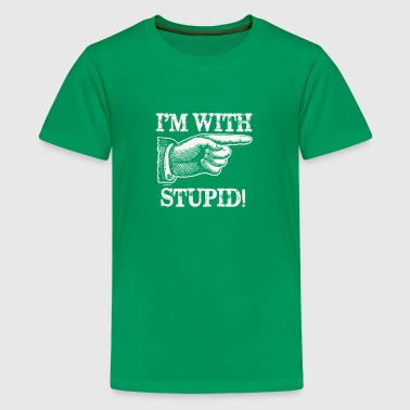 With Stupid T SHIRT Awesome Humor Party Insult - Kids' Premium T-Shirt