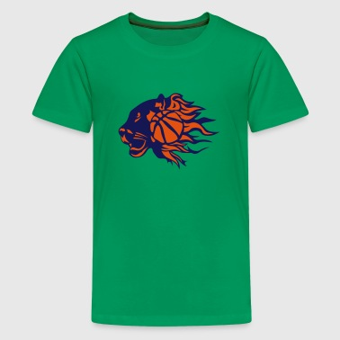 panther basketball fire flame logo - Kids' Premium T-Shirt