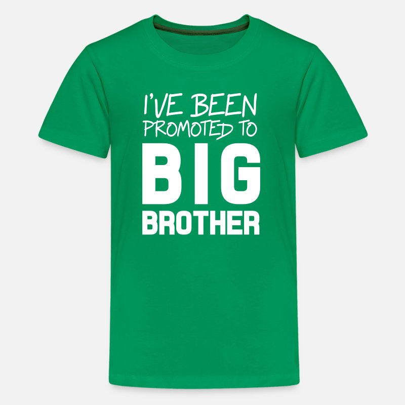 Big T-Shirts - I've Been Promoted To Big Brother - Kids' Premium T-Shirt kelly green