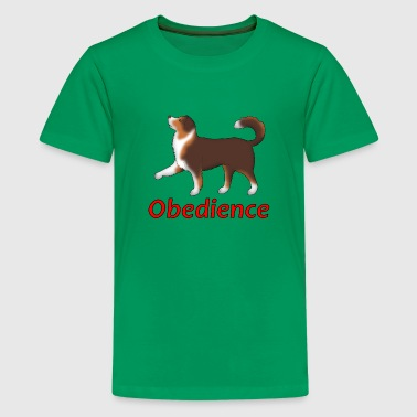 Obedience AS Fuß - Kids' Premium T-Shirt