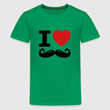 I Heart Moustache i love moustache / I heart moustache - Kids' Premium T-Shirt