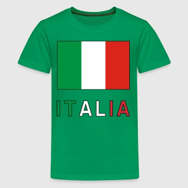 Italian Flag and Italia - Kids' Premium T-Shirt