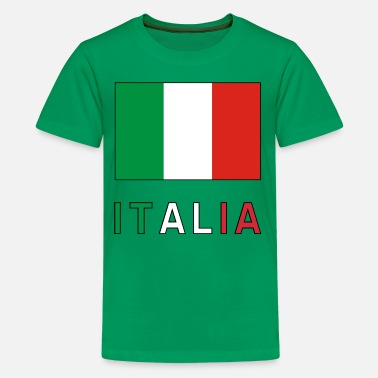Italian Italian Flag and Italia - Kids' Premium T-Shirt