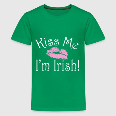 Kiss Me I'm Irish Pink Lipstick - Kids' Premium T-Shirt