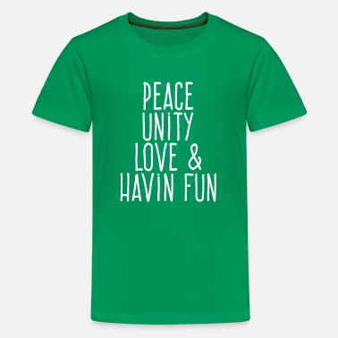 Unity peace unity love fun - Kids' Premium T-Shirt