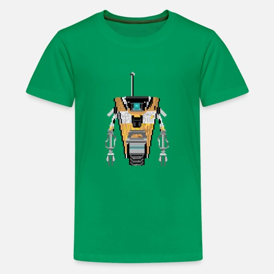 Borderlands T-Shirts - Robot - Kids' Premium T-Shirt kelly green