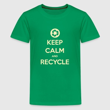 Recycling Keep Calm and Recycle - Kids' Premium T-Shirt