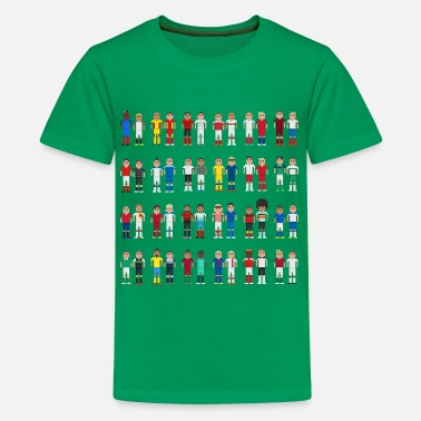 Pixelated Football Pixels footballers - Kids' Premium T-Shirt