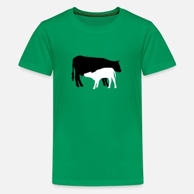 Cattle Calf cow and calf colored - Kids' Premium T-Shirt