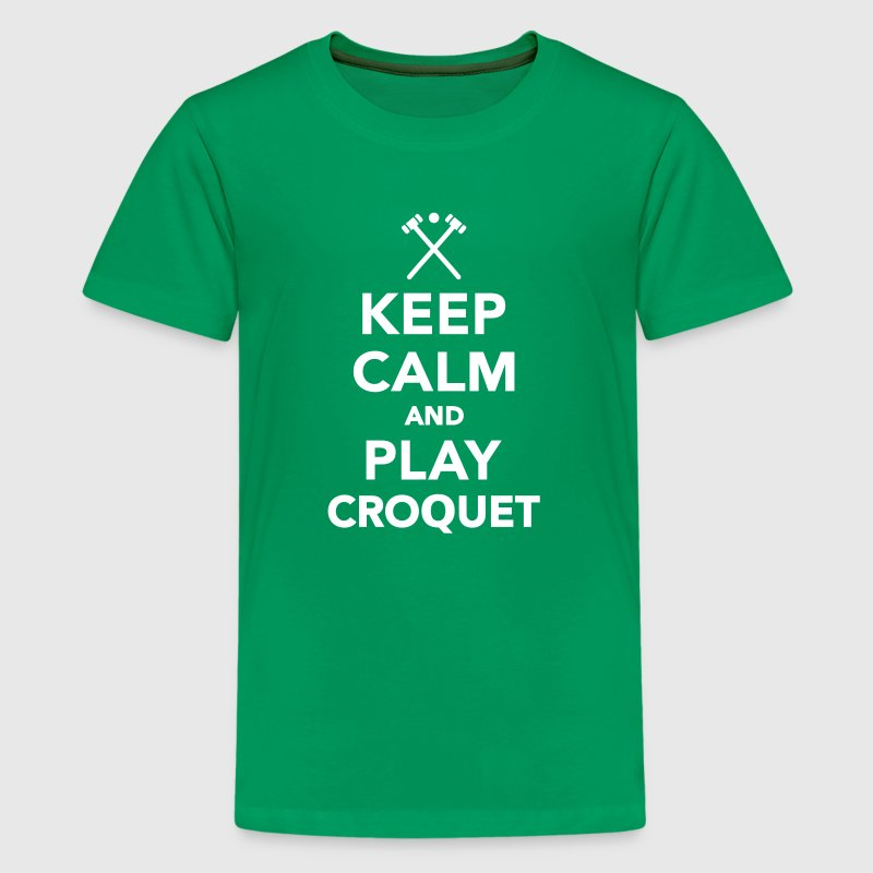 Keep calm and play Croquet - Kids' Premium T-Shirt