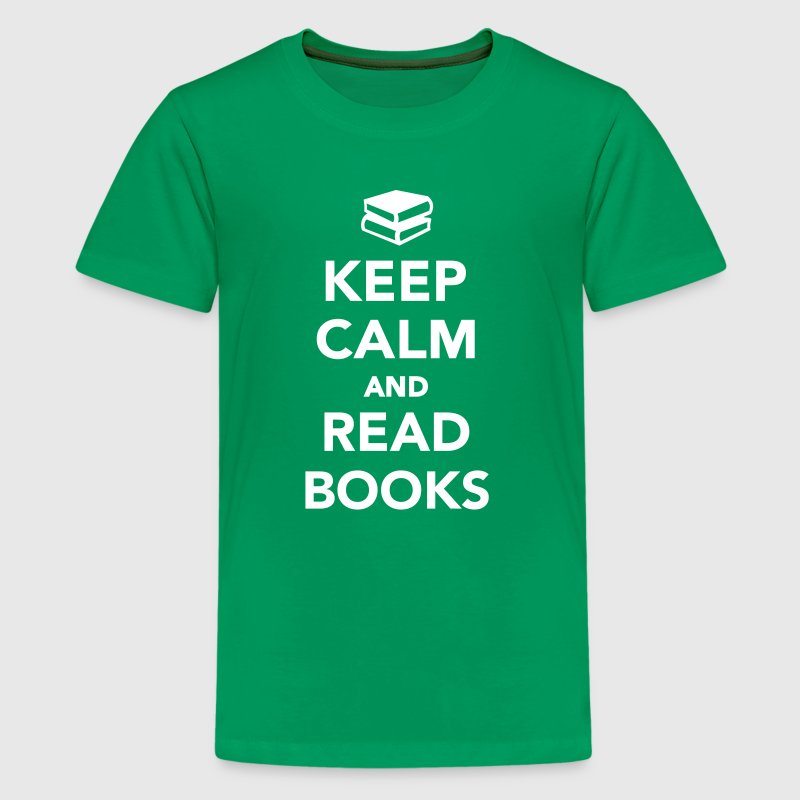Keep calm and read books - Kids' Premium T-Shirt