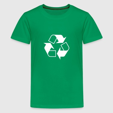 Recycle Symbol White - Kids' Premium T-Shirt