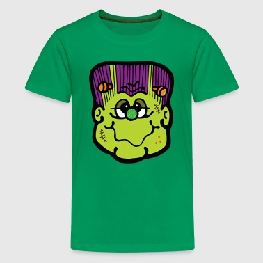 Big green Frank face - Kids' Premium T-Shirt