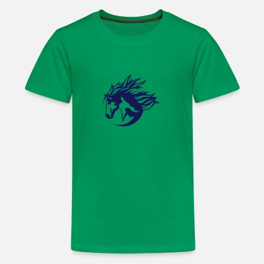 Horse Logo horse riding club logo sports horses - Kids' Premium T-Shirt