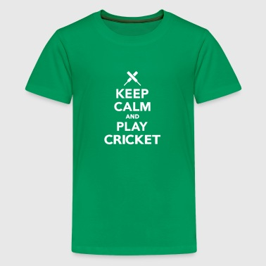 Keep calm and play Cricket - Kids' Premium T-Shirt