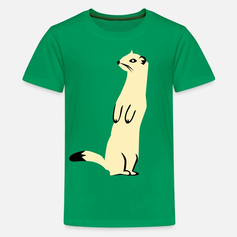Zoo T-Shirts - Weasel - Ermine - Kids' Premium T-Shirt kelly green