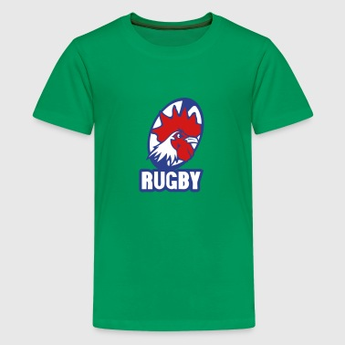Mens Rugby Team rugby rooster logo team - Kids' Premium T-Shirt