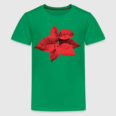 Bright Red Poinsettia - Kids' Premium T-Shirt