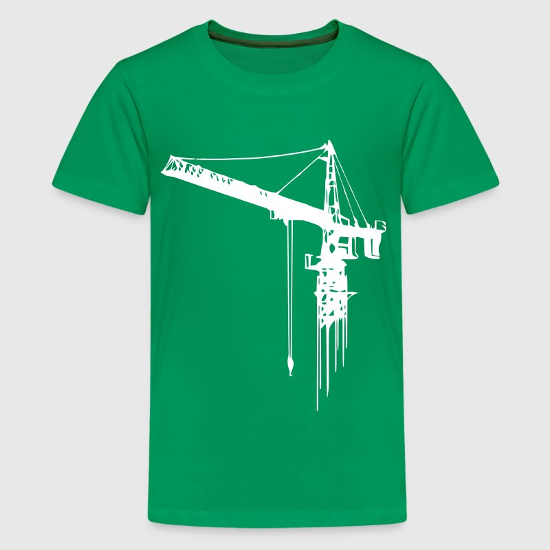 tower crane (1 color) - Kids' Premium T-Shirt