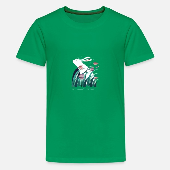 Funny T-Shirts - Rabbit Resting - Kids' Premium T-Shirt kelly green
