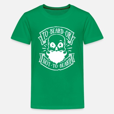 Hairy Bearded Skull Full Beard Hipster Hairy Barber Gift - Kids' Premium T-Shirt