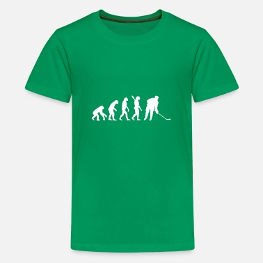10714e28e Hockey Evolution Funny Hockey Shirt - Kids' Premium T-Shirt