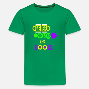 Mardi Gras Beer Beads And Boobs T-Shirt Mardi Gras Party Cost - Kids' Premium T-Shirt
