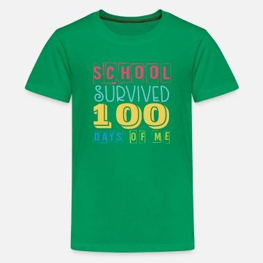 Short School Survived 100 Days Of School - Kids' Premium T-Shirt