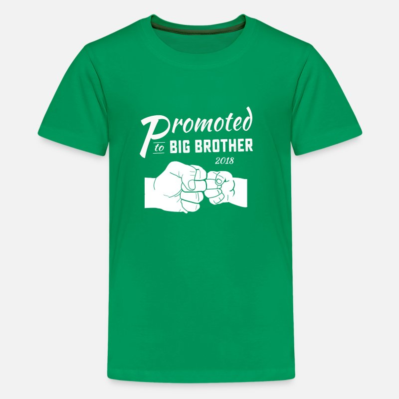 Big Brother 2018 T-Shirts - Funny promoted to big brother 2018 fist bump T Shi - Kids' Premium T-Shirt kelly green