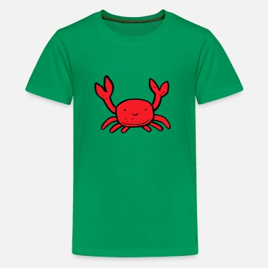 Crab Pete the funny crab - Kids' Premium T-Shirt