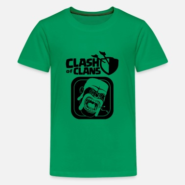 Clash Of Clans Barbarian Clash of Clans - Kids' Premium T-Shirt