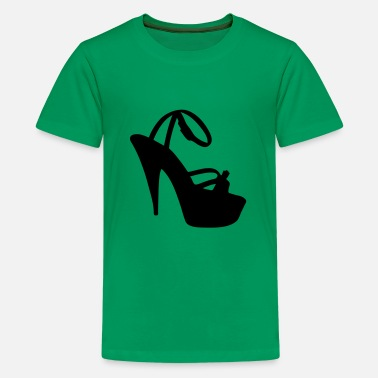 Highheeled Shoes Vector high heels shoes Silhouette - Kids' Premium T-Shirt
