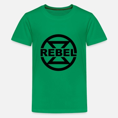 Rebel, hourglass, symbol, climate, environment, - Kids' Premium T-Shirt